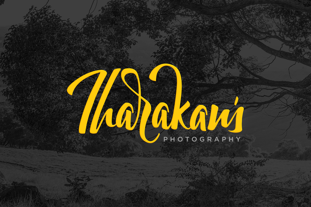 Dark Background Logo for Tharakans Photography