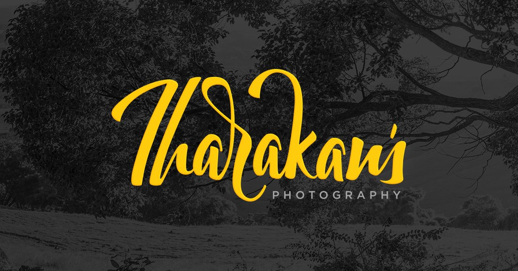 Dark Background Logo for Tharakans Photography