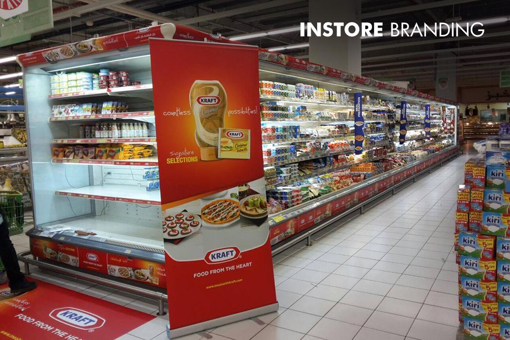 Kraft Instore Large Format Installation by Cornerstone
