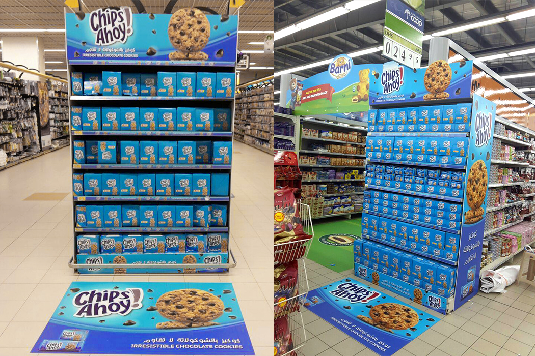 Chips Ahoy Instore Large Format Installation by Cornerstone