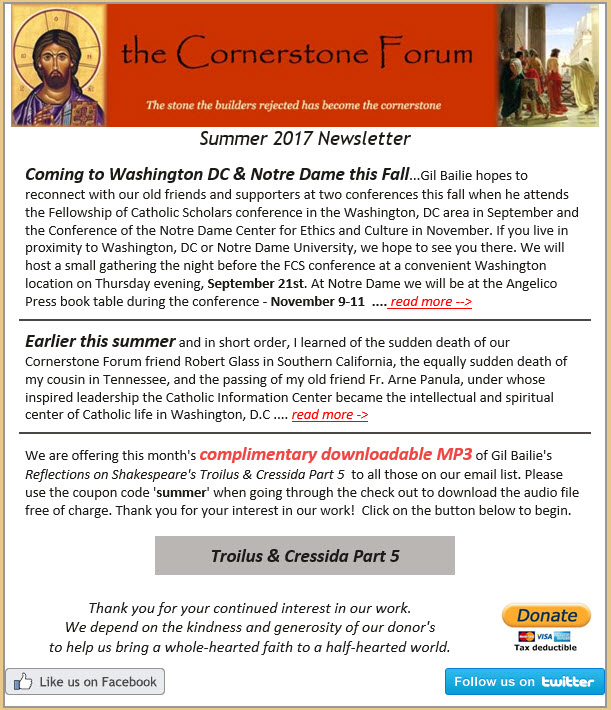 The cornerstone forum fostering a whole hearted faith in a half we recently sent out our summer newsletter to all those on our newsletter email list fandeluxe Image collections