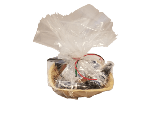 gift basket with various natural CBD products from Cornerstone Botanicals