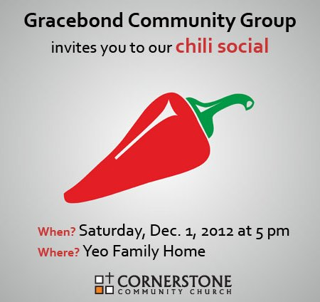 Gracebond Community Group Chili Social