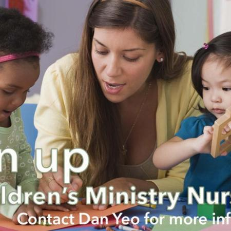 Sign up for Children's Ministry Nursery
