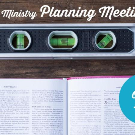 Men's Ministry Planning Meeting, 10/15
