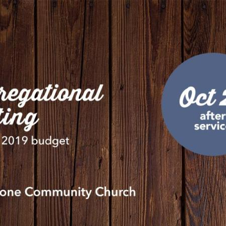 Annual Congregational Meeting, 10/28