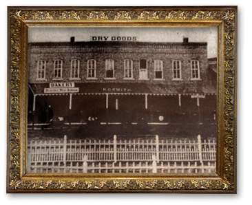 The building that houses Cornerstone Inn began as a Dry Goods store.