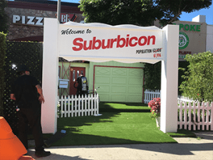 Suburbicon custom entrance arch