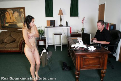 Woman Standing In Corner Punishment