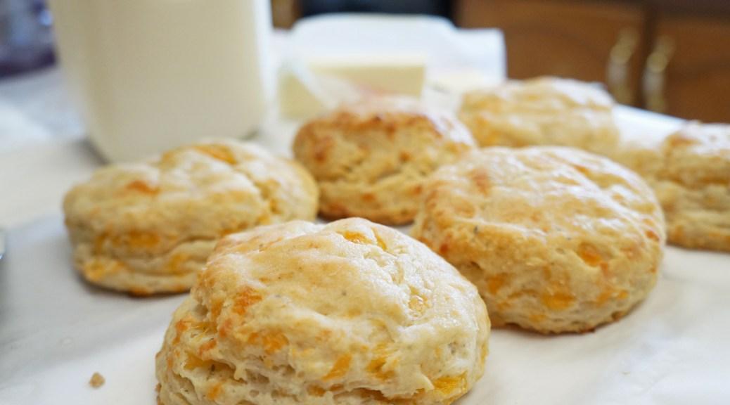 Garlic and Cheddar Buttermilk Biscuits
