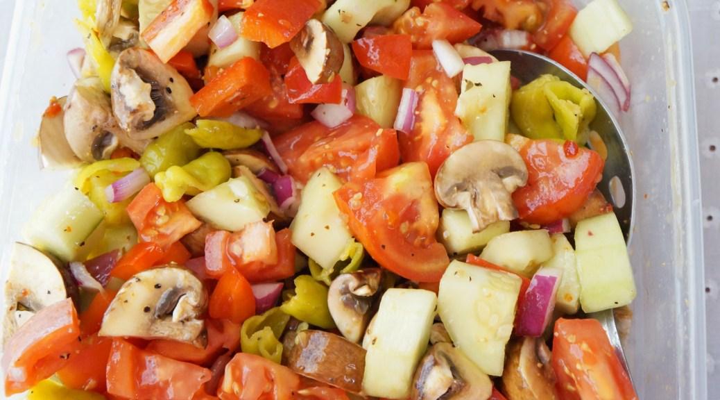 Tangy Tomato Veggie Salad