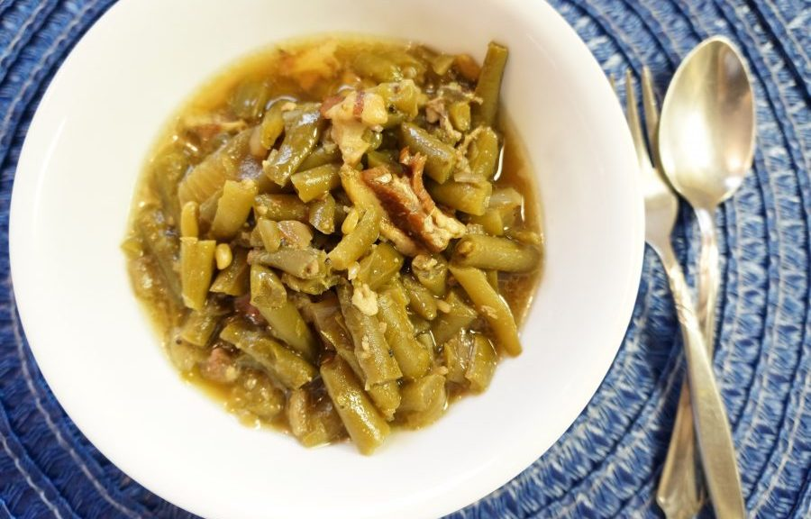 old fashioned green beans with bacon
