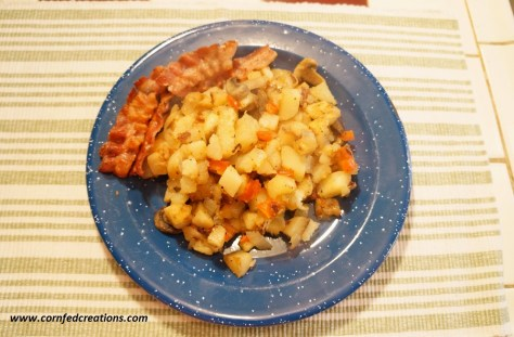 hearty skillet taters & veggies