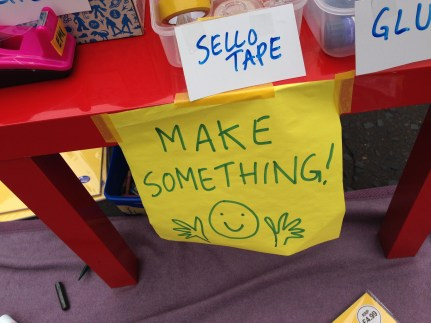 Make something! Photo by Mary Hutchison