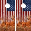 American Flag Buck N Deer Wood Cornhole Board Wraps 3