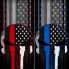 Punisher American Flag Cornhole Wrap