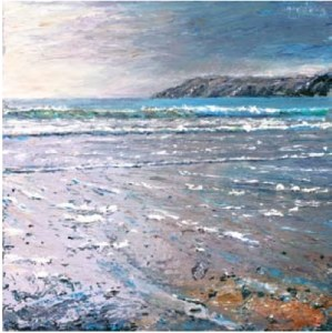 Blue Sea, Kennack Sands Second Beach, Kennack Sands 400mm x 400mm, oil on canvas