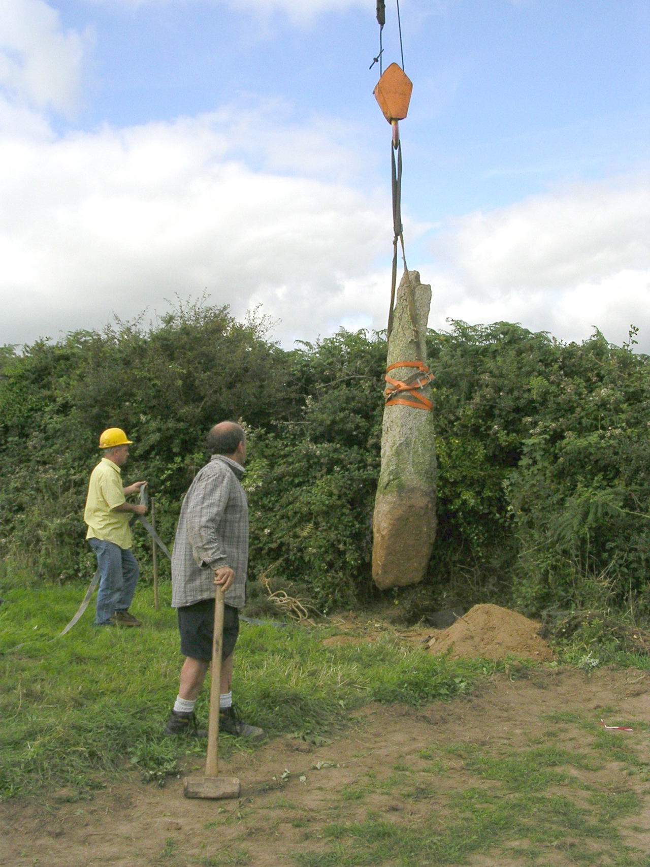 Moving the Eathorne menhir