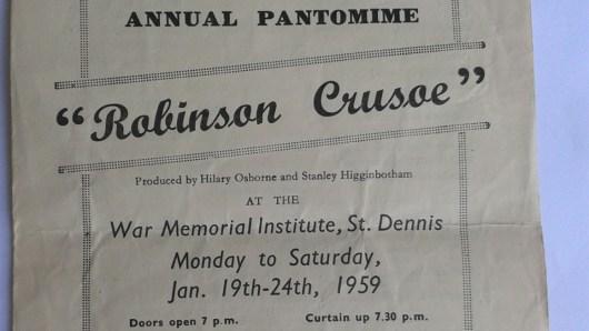 Robinson Crusoe Pantomime Programme