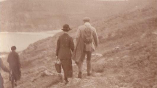 Walking along the coastal moors