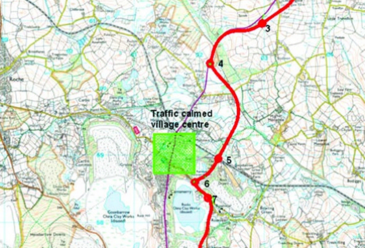 Budget – £79 million towards the cost for new St Austell – A30 link road