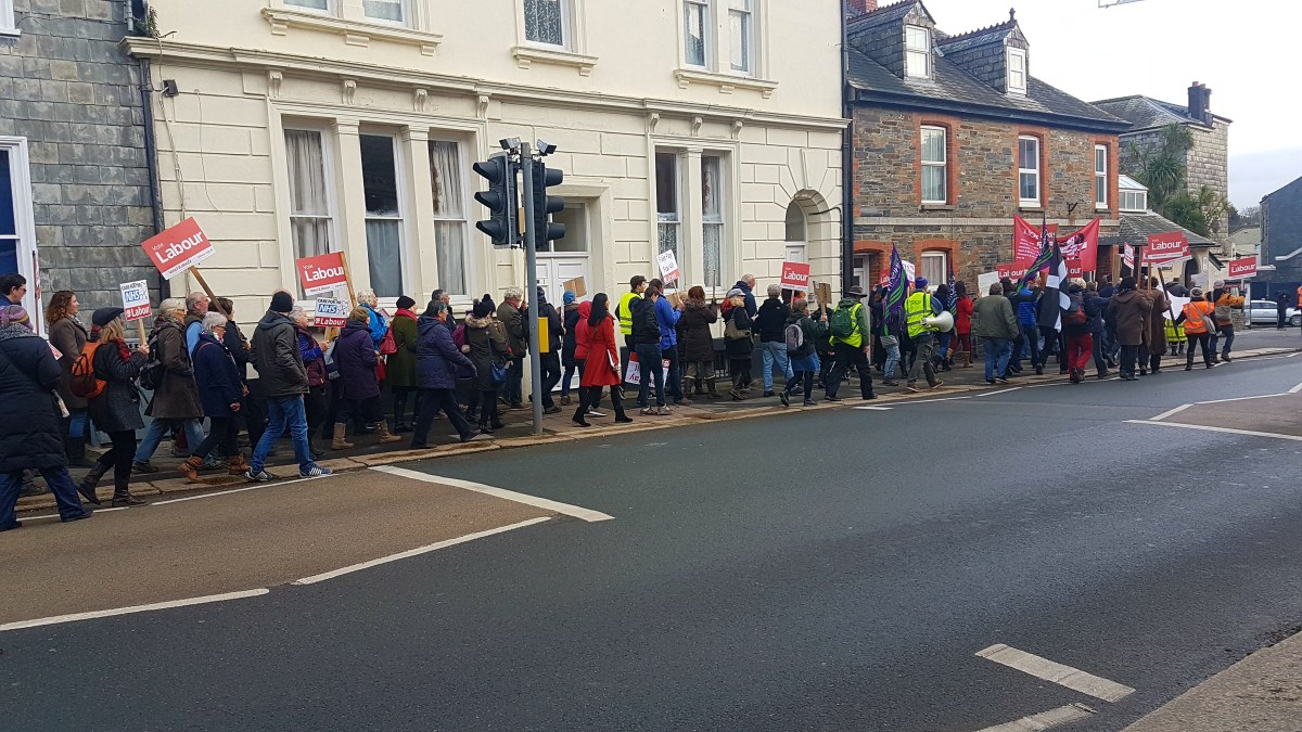 150 Attend Liskeard NHS Demo