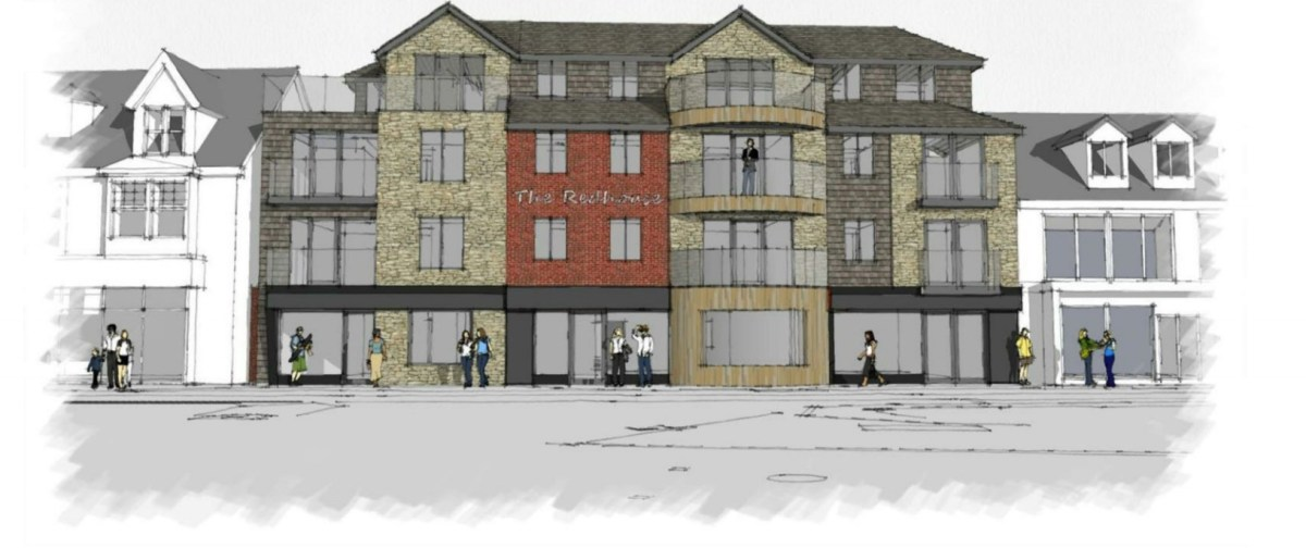 Plans to build new shops and holiday flats in Perranporth approved