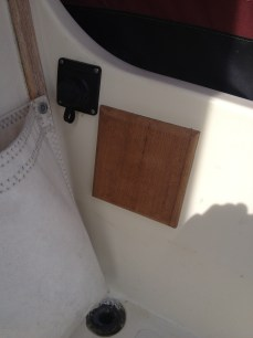 Nice teak pad, and plug for extension