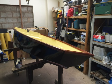 Hull with black gloss paint