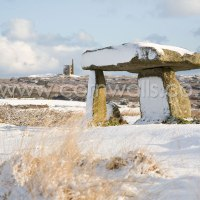 Snow on Lanyon Quoit