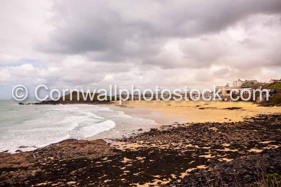 Porthmeor Beach With Tate St Ives And St Nicholas Chapel