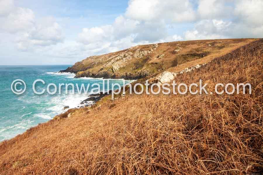 Rocky Headland Near St Ives On South West Coast Path