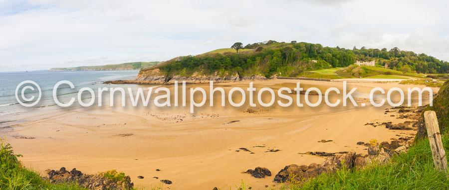 Caerhays Castle, Beach And Sea