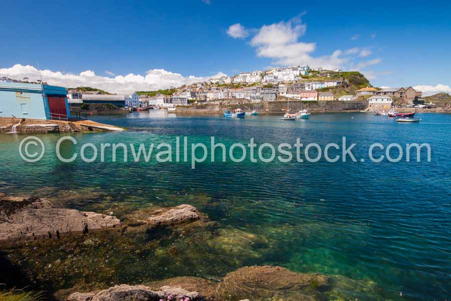 Mevagissey Harbour With Boathouse In Foreground