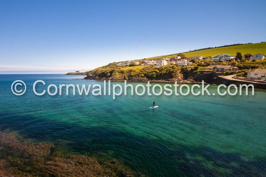 Portmellon with Stand Up Paddle Boarder