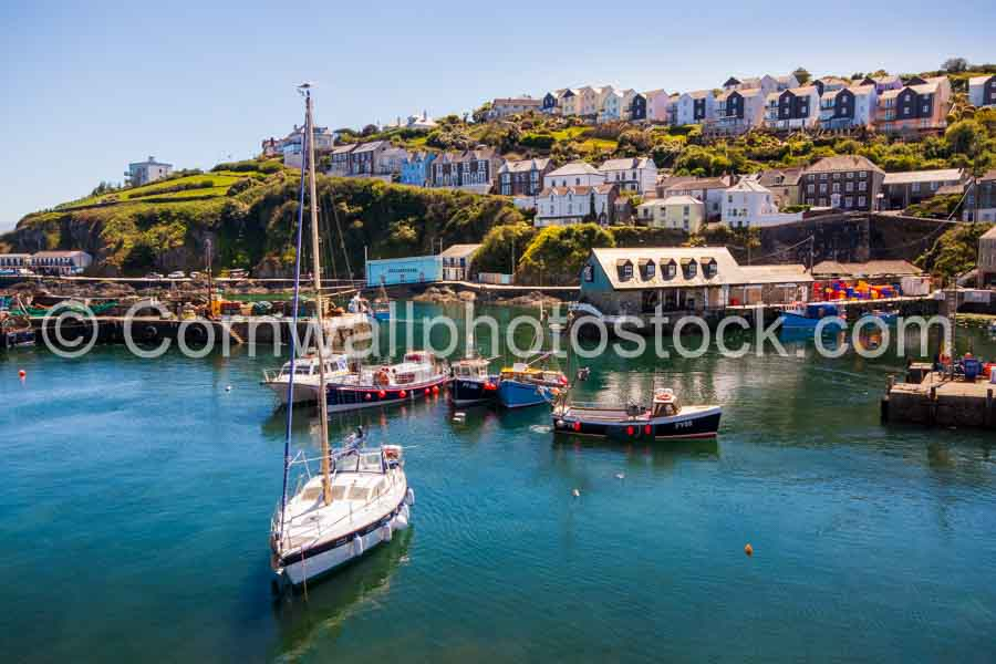 Sailing Boat In Mevagissey Harbour