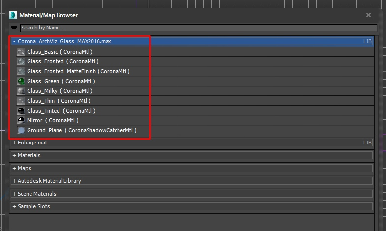 How to open Corona material sets in 3ds Max  Corona