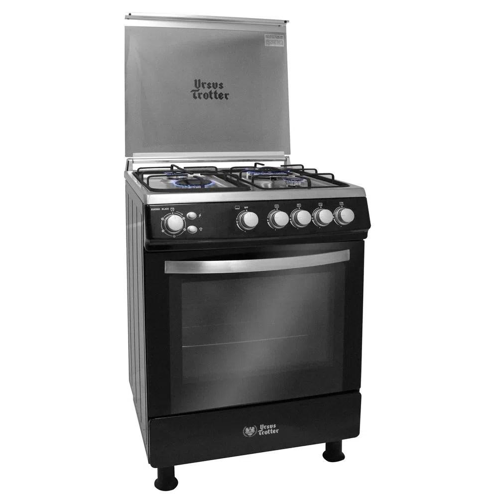Cocina 4 Quemadores Ursus Trotter UT Euro 60 Black Gas