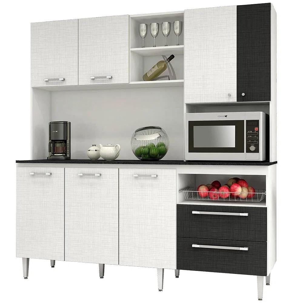 Mueble de Cocina Roch 7 Puertas 2 Cajones Blanco M1009  Corona