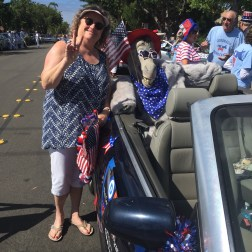 Patti (and friend) at last year's Parade.