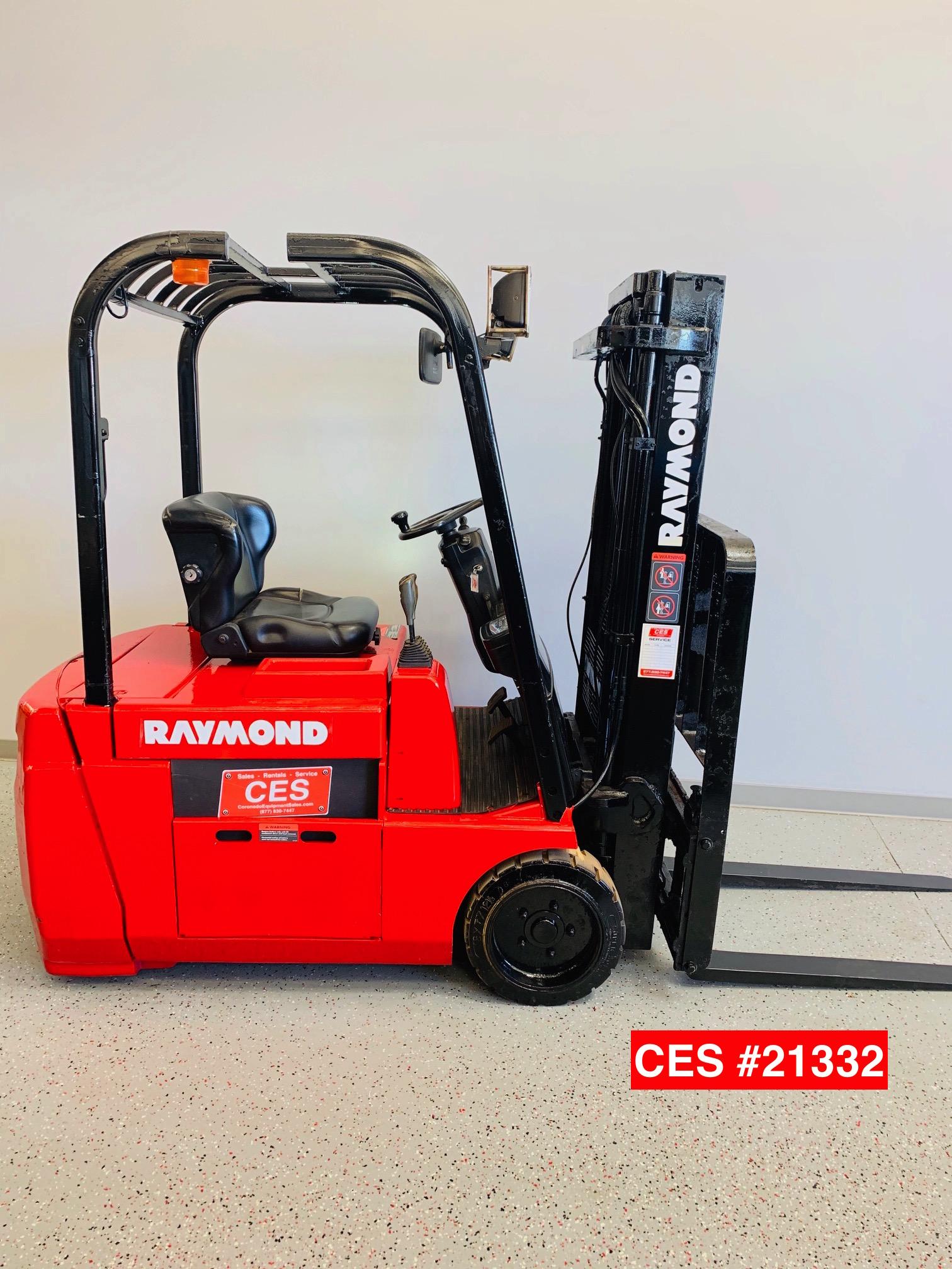 CES #21332 Raymond 445-C30TT 3 Wheel Electric Forklift - Coronado Equipment Sales