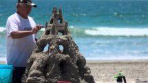 Making Sandcastle Coronado Beach Time-lapse