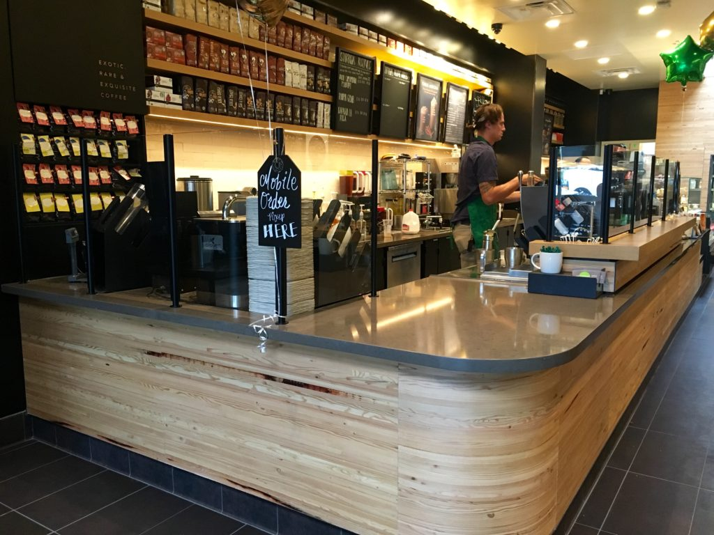 orange cafe chairs fishing for sale coronado starbucks reopens after massive remodel | times