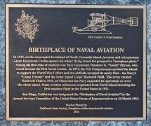 Plaque Honoring Birthplace Of Naval Aviation