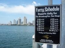 Coronado Ferry Schedule Departure Times