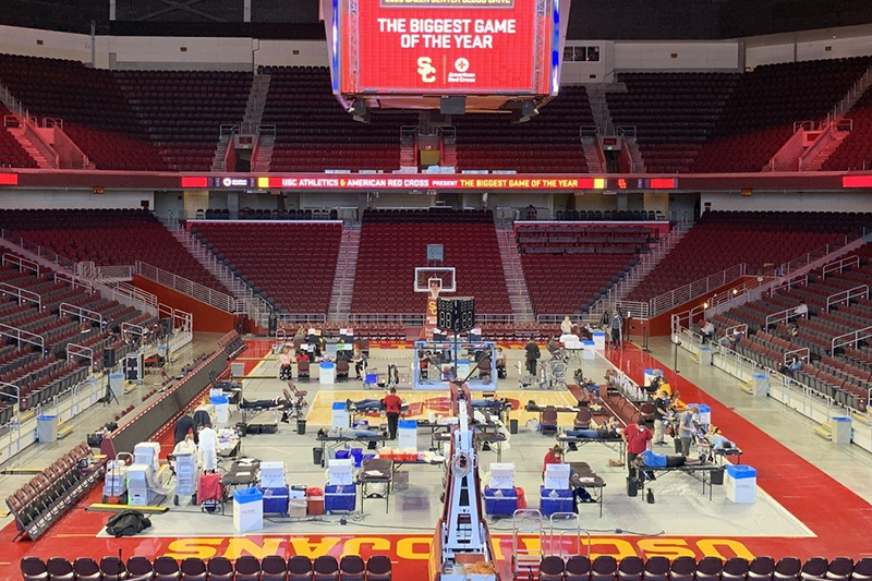 Blood drive at the Galen Center