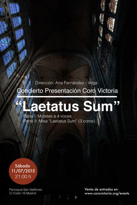 Concierto Presentación «Laetatus Sum»