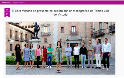 Diario Lírico: el Coro Victoria se presenta con un monográfico sobre Tomás Luis de Victoria