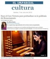 El Imparcial: el Coro Victoria y la polifonía del Renacimiento