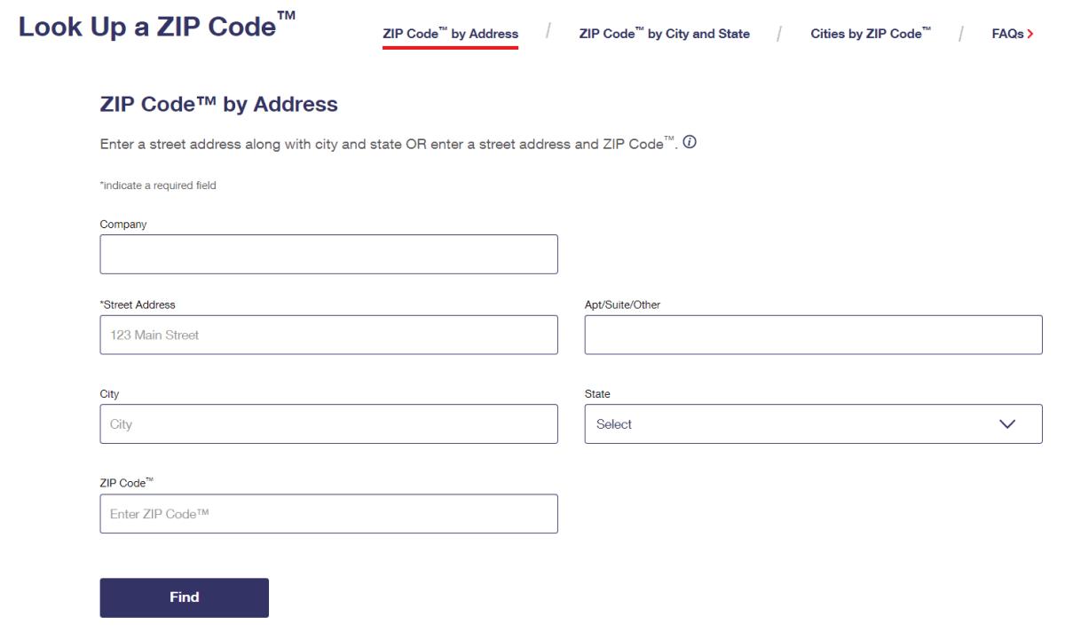 USPS ZIP Code Finder